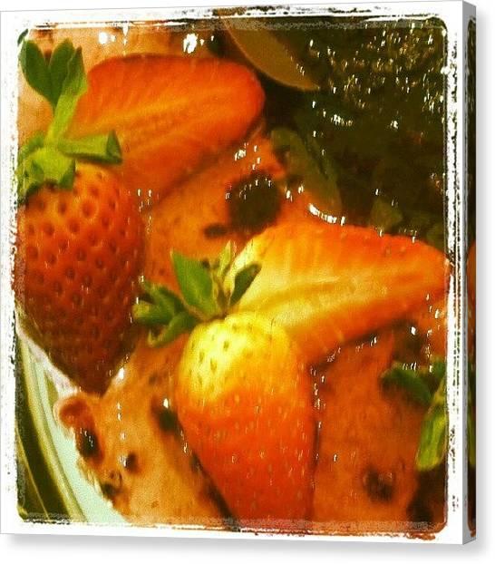 Strawberries Canvas Print - Dolce Vita by Jm Bingo