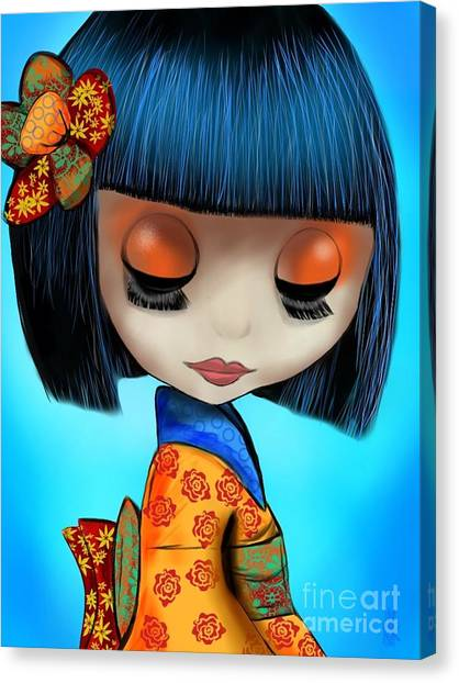 Doll From The East Canvas Print