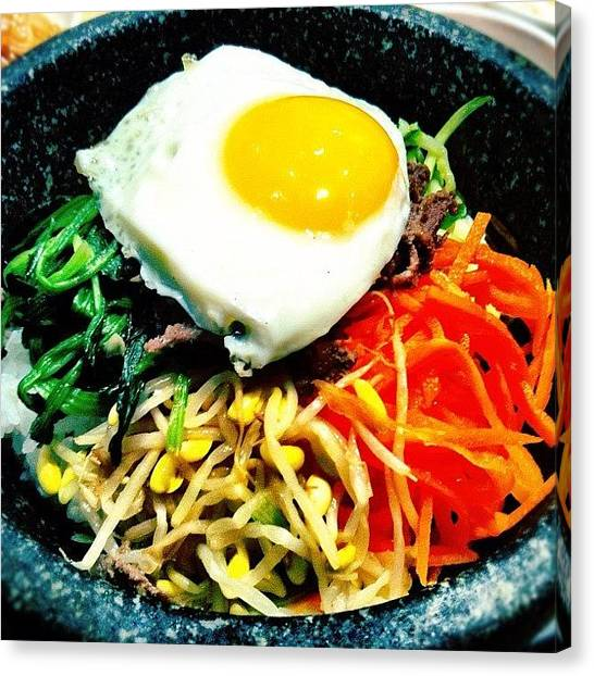 Korean Canvas Print - Dolot Bibimbap - #korean #food #yummy by Liza Mae | Luxavision
