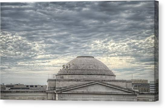 Smithsonian Museum Canvas Print - Dome Workers by Jim Pearson