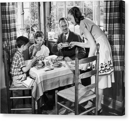 Domestic Bliss Canvas Print by A E French