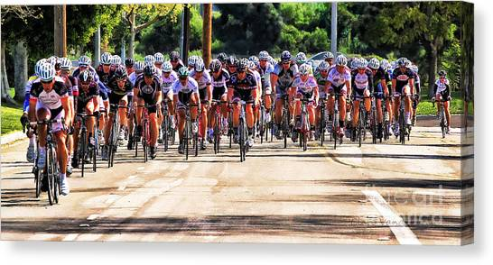 Dominguez Hill Cycle Race Canvas Print by Clare VanderVeen