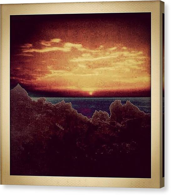 Ocean Sunsets Canvas Print - Dominican Republic Sunset by Natasha Marco