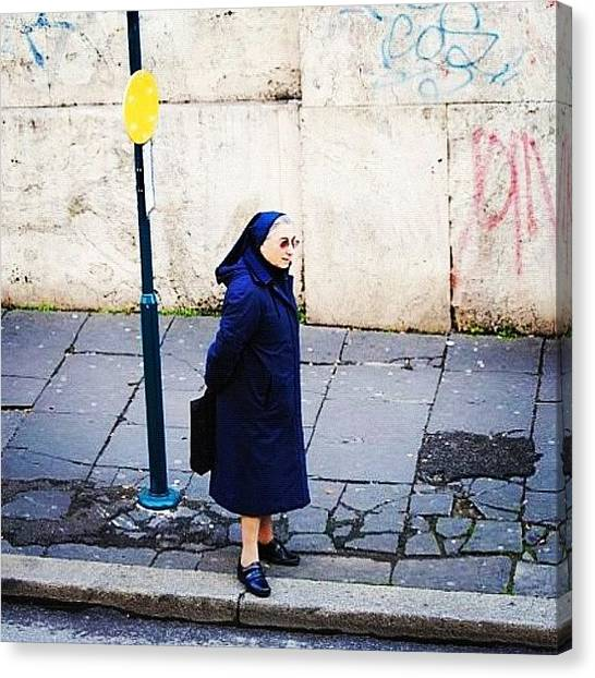 Rome Canvas Print - Don't See Nuns Waiting For Buses Every by Jackie Ayala