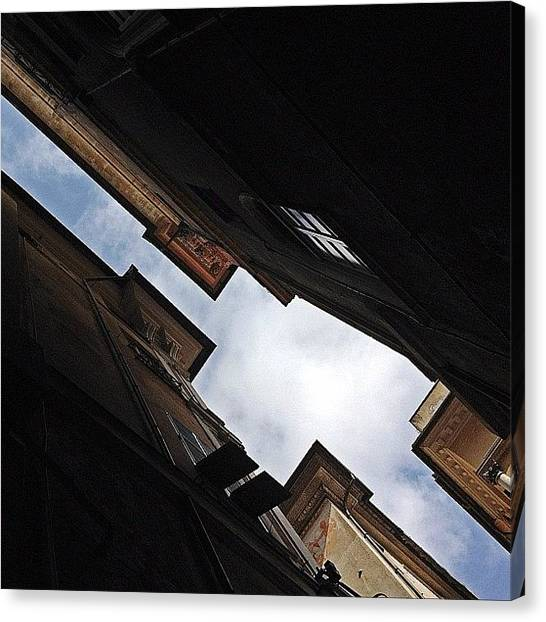 Street Scenes Canvas Print - Don't Tell Me The Sky Is The Limit by A Rey