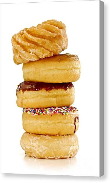 Doughnuts Canvas Print - Donuts by Elena Elisseeva