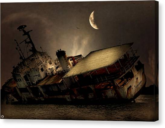 Freight Canvas Print - Doomed To Gloom by Lourry Legarde
