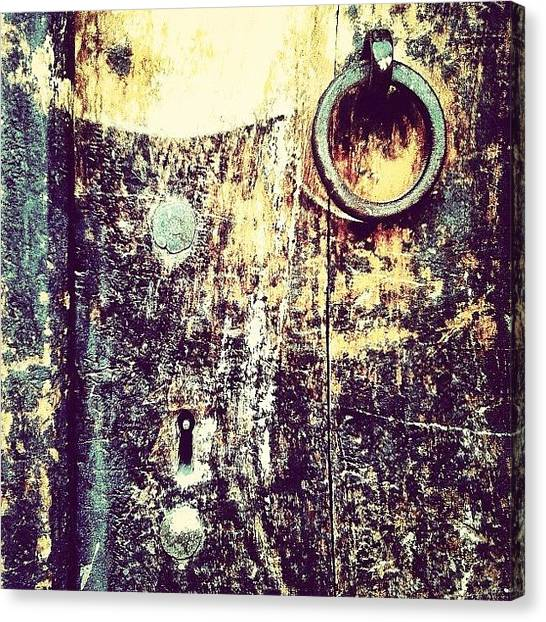 Iranian Canvas Print - #door #iran #yazd #iphoneonly #texture by Keyvan Shokrollahi