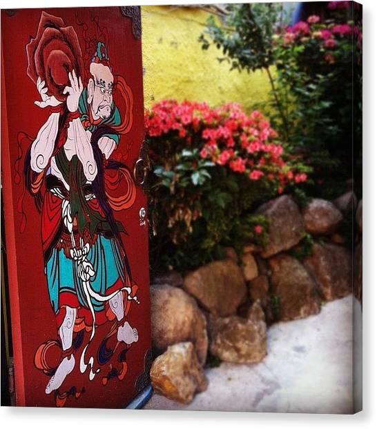 Korean Canvas Print - Door by Roxanne Soko