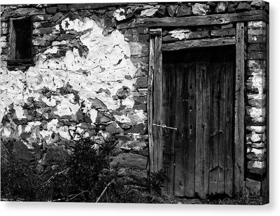 Door  Window And The Wall  Canvas Print