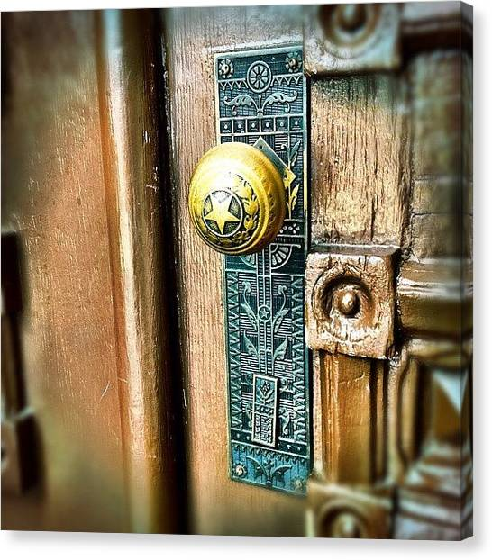 Austin Canvas Print - Doorknob by Natasha Marco
