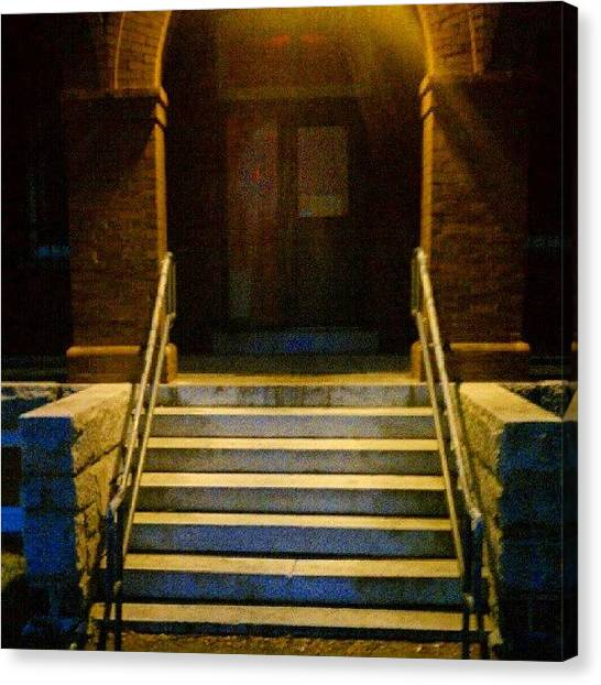 Maine Canvas Print - Doorway Steps. #southportland #maine by Chris T Darling