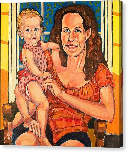 Dory With  Simone Canvas Print