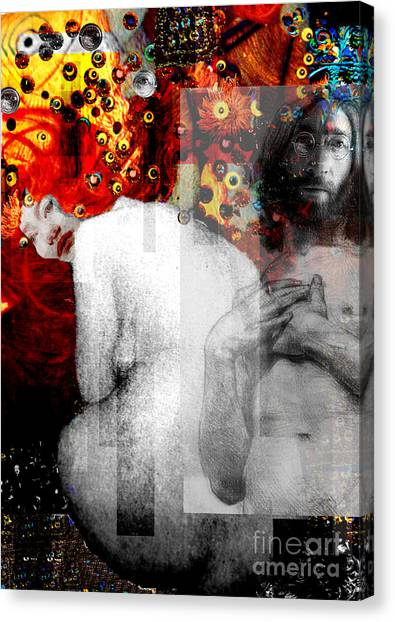 Double Fantasy John Lennon Yoko Ono Nude Canvas Print