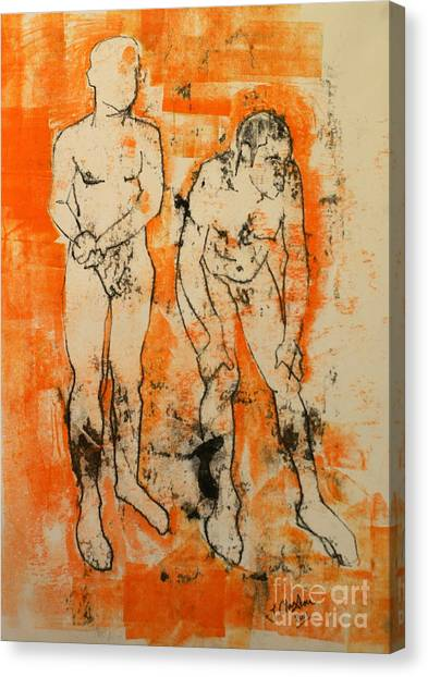 Double Male Nude Canvas Print