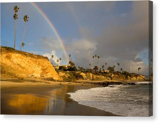 Double Raibow Over Laguna Beach Canvas Print