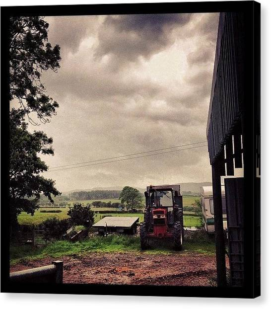 Tractors Canvas Print - Down On The #farm by Miss Wilkinson