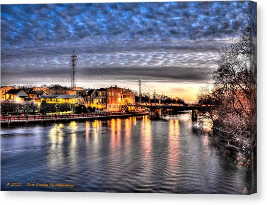 Downtown Batavia Illinois Canvas Print by Dan Crosby