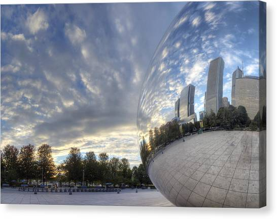 Downtown Chicago At Dawn Canvas Print by Twenty Two North Photography