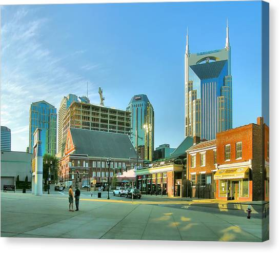 Downtown Nashville IIi Canvas Print by Steven Ainsworth