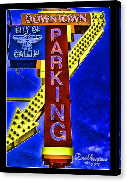 Downtown Parking Canvas Print