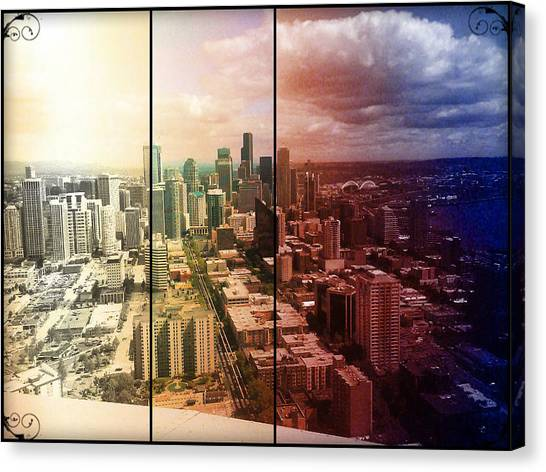 Downtown Seattle Canvas Print by Lee Yang