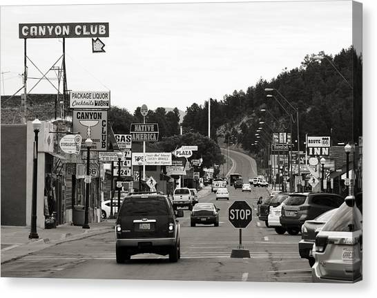 Historic Route 66 Canvas Print - Downtown Williams by Ricky Barnard