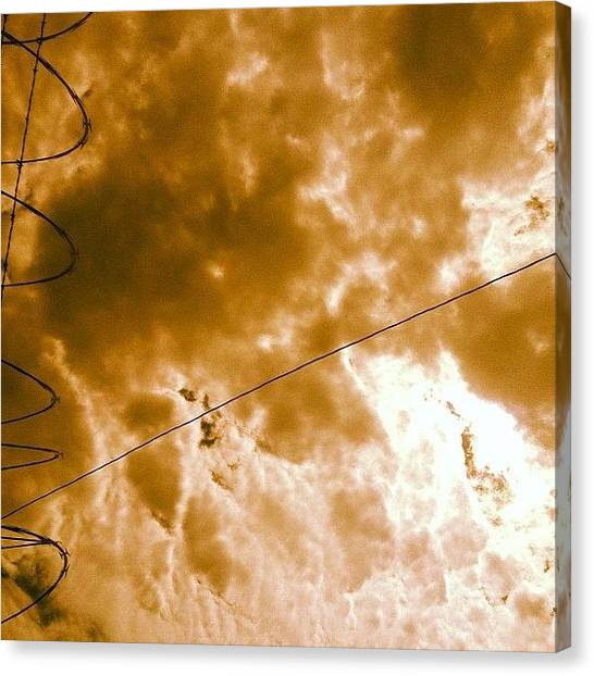 Ashes Canvas Print - #downtownla #clouds Humidity Sucks by Ash Eliot