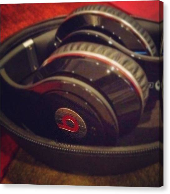 Headphones Canvas Print - Dr. Dre Beats by Nish K.
