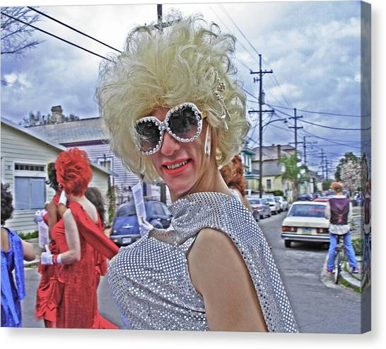 Drag Queen Supreme In New Orleans Canvas Print