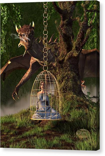 World Of Warcraft Canvas Print - Dragon Bait by Daniel Eskridge