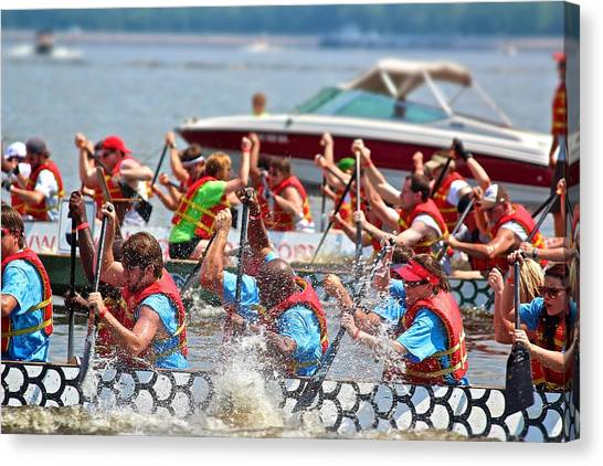 Dragon Boat Regatta 2 Canvas Print
