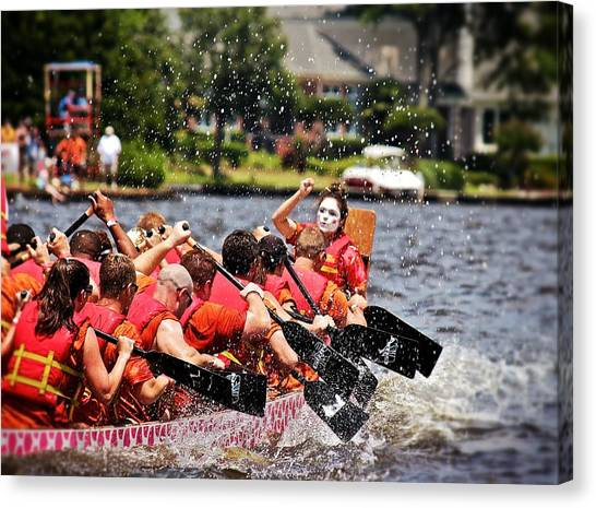 Dragon Boat Regatta  Canvas Print