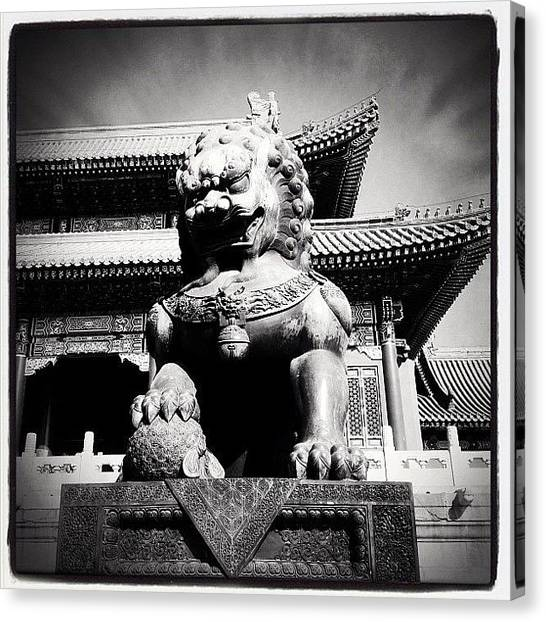 Temples Canvas Print - Dragon Son by Erik Jorgensen
