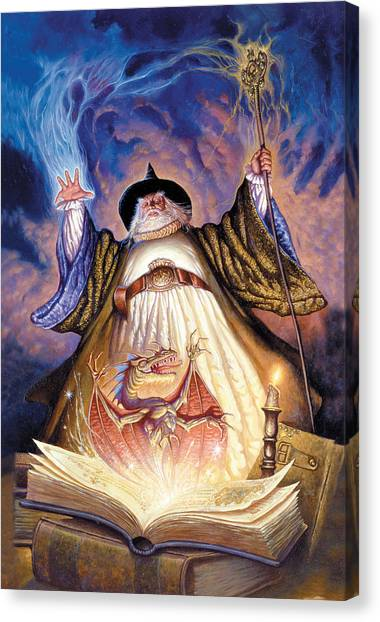 Dragon Canvas Print - Dragon Spell by The Dragon Chronicles