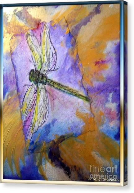Dragonfly Dreams Canvas Print by M c Sturman