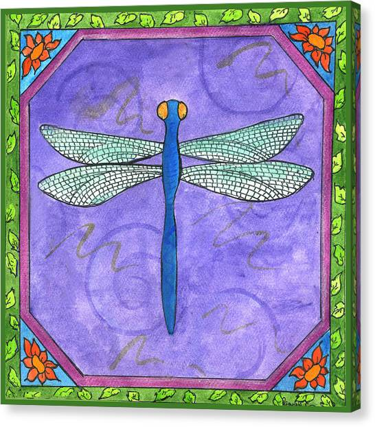 Dragonfly Two Canvas Print by Pamela  Corwin