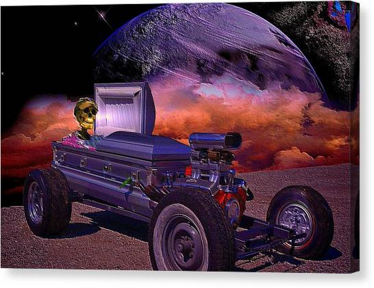 Dragula Munster Dragster Replica Canvas Print by Tim McCullough
