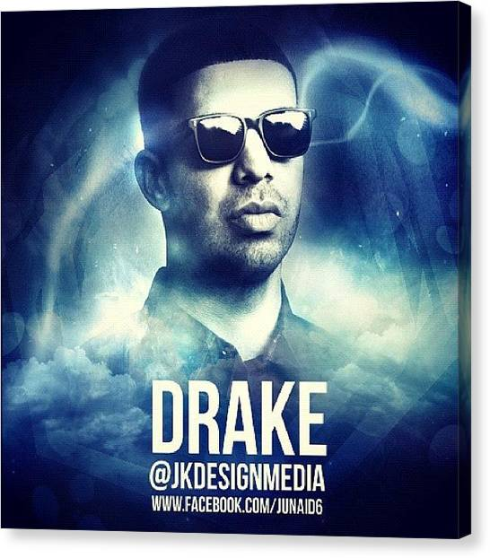 Bands Canvas Print - Drake Design, Follow Me Here ! by Junaid Khan