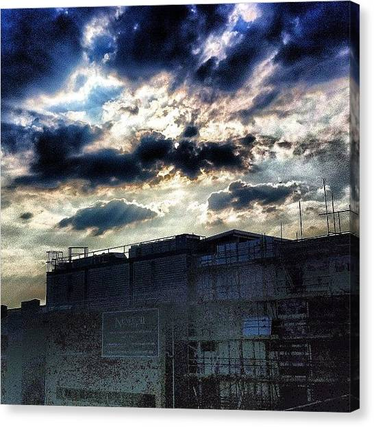 Factories Canvas Print - Dramatic London Sky by Samuel Gunnell