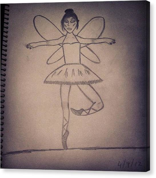 Ballet Canvas Print - #drawing #draw #pencil #creation by Logan Mcpherson