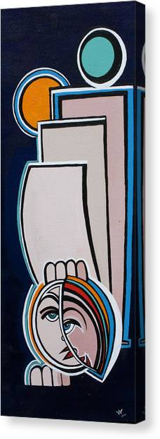 Dreamer Blue Canvas Print by Valerie Wolf