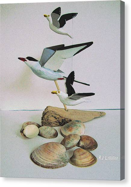 Dreams Evoked From Wooden Birds Canvas Print