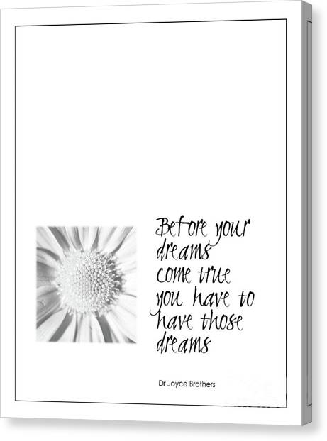 Dreams Come True Quote Canvas Print
