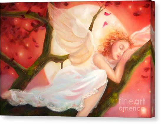Dreams Of Strawberry Moon Canvas Print