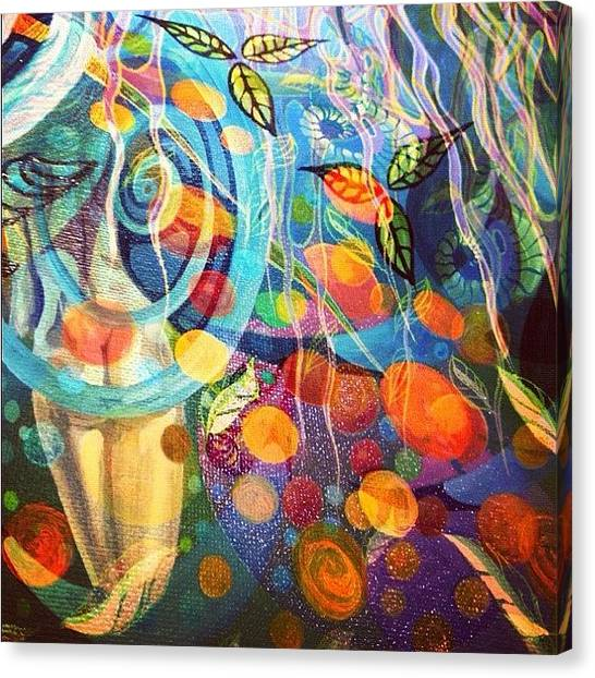 Nude Canvas Print - Dreamscape by Lisa Catherwood