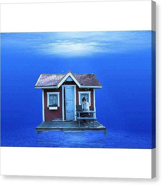 Underwater Canvas Print - Dreamsurfplace #iphonesia #instagood by Robin Hedberg