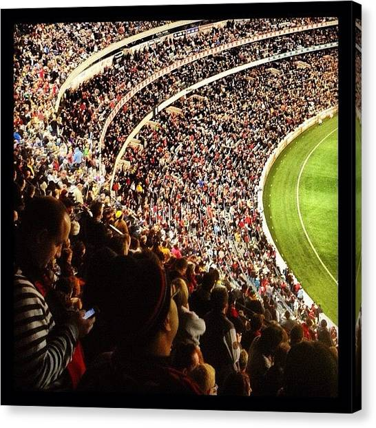 Tigers Canvas Print - Dreamtime Crowd by Michael Rivero