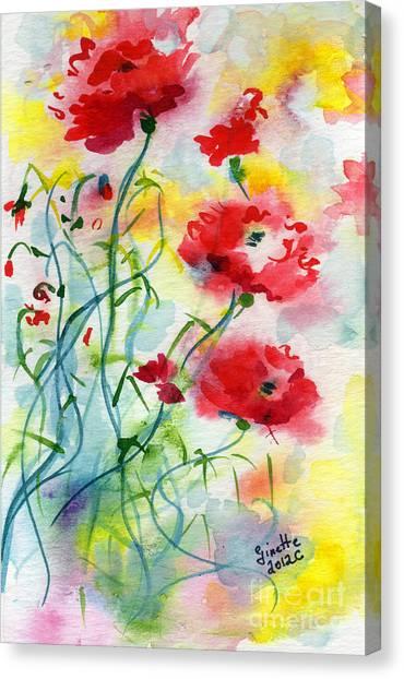 Dreamy Poppies Canvas Print