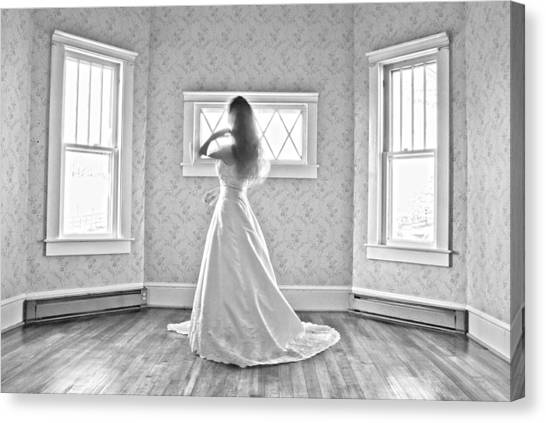 Wedding Gown Canvas Print - Dress 28 by Betsy Knapp